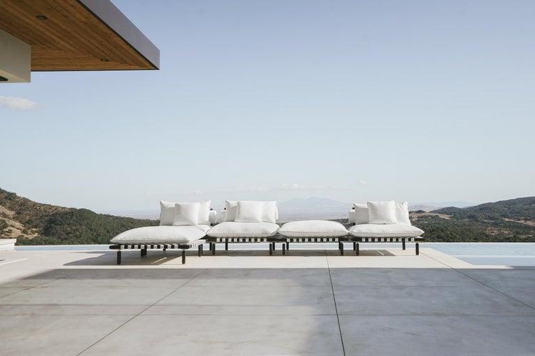 Modern Nerthus, Teak and Hemp Indoor-Outdoor Sofa by ATRA For Sale