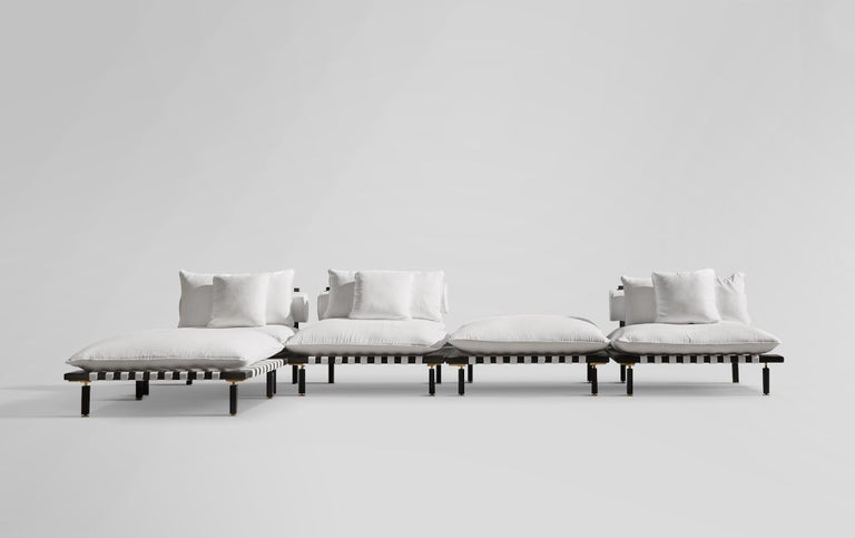 Central American Nerthus, Teak and Hemp Indoor-Outdoor Sofa by ATRA For Sale