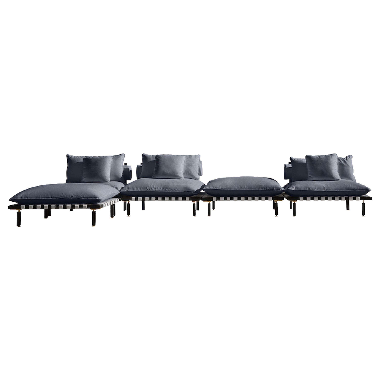 Nerthus, Teak and Hemp Indoor-Outdoor Sofa by ATRA