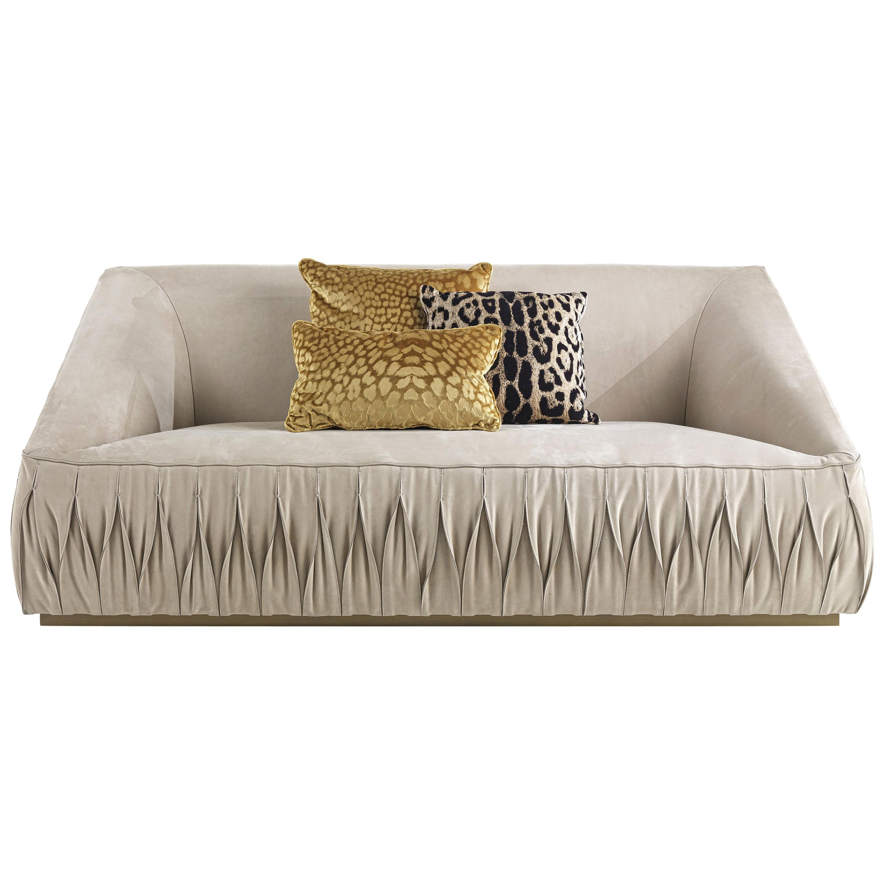 Nest 2-Seater Sofa in Leather by Roberto Cavalli Home Interiors