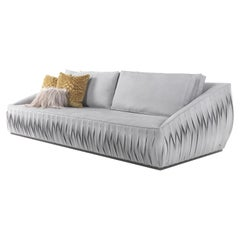 Nest 3-Seater Sofa in Light Leather by Roberto Cavalli Home Interiors