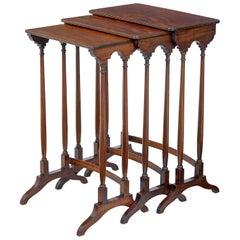 Nest of 3 19th Century Victorian Mahogany Nesting Tables