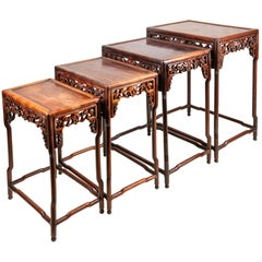 Nest of Four Chinese Hardwood Tables, circa 1880