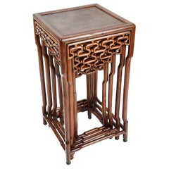 Nest of Four Chinese Hardwood Tables, Late 19th Century