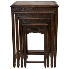 Nest of Four Chinese Teakwood Tables