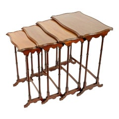 Nest of Four Mahogany Tables, 20th Century
