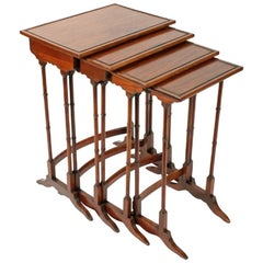 Nest of Four Regency Style Tables, 20th Century