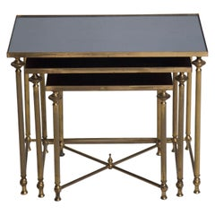 Nest of French Brass Tables