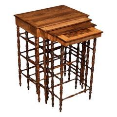 Nest of Regency Specimen Wood Tables