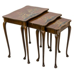 Nest of Three Chinoiserie Tables
