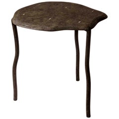 "Nesting Side Table, ""Water Lily Large"", in Black Shagreen by R&Y Augousti"