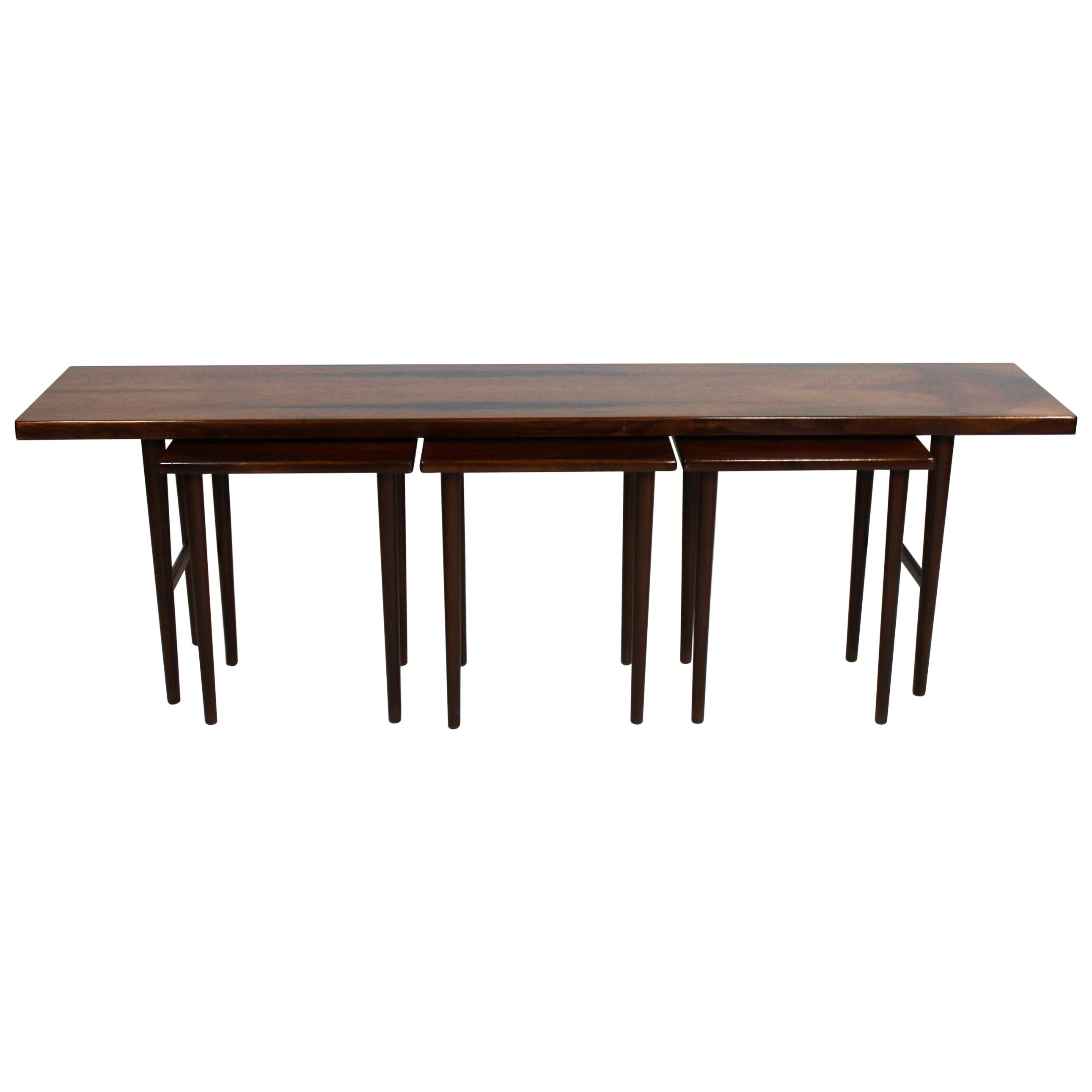 Nesting Table in Rosewood by Kurt Østervig and Jason Furniture, 1960s