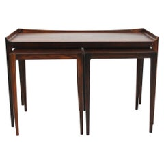 Nesting Table in Rosewood, Model 223, Designed by Kurt Østervig in 1958
