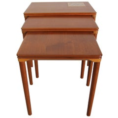 Nesting Table with Tile Inset on Top Table