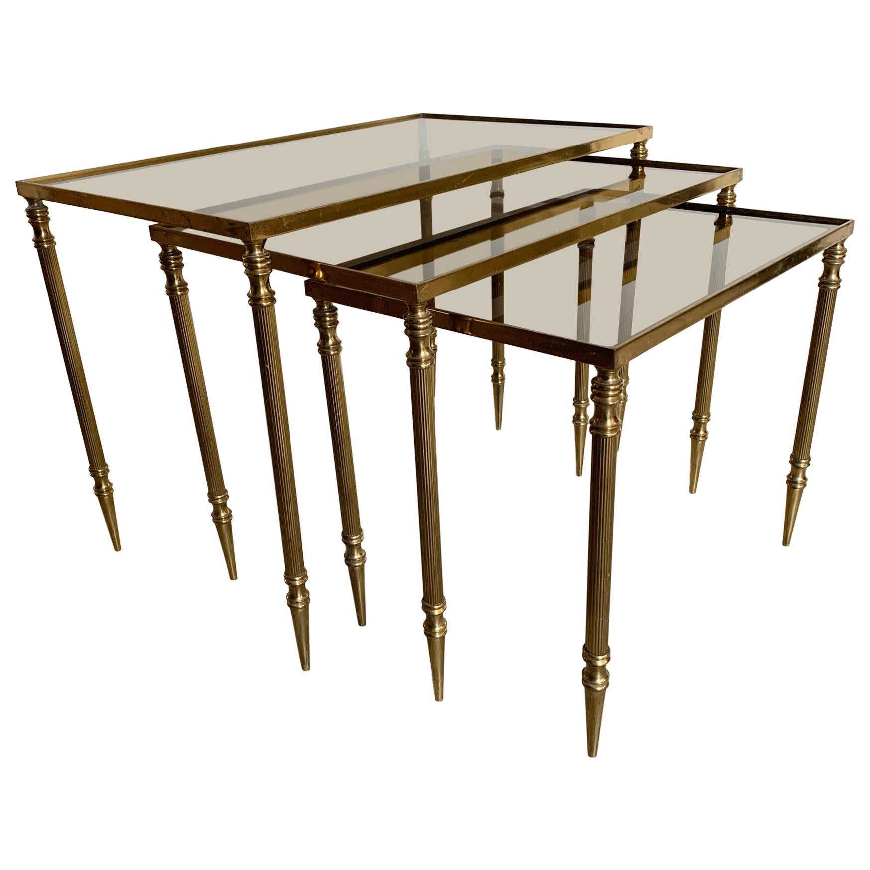 Nesting Tables Attributed to Maison Jansen, circa 1940s