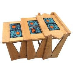 Nesting Tables by Guillerme et Chambron, Edition Votre Maison, circa 1970
