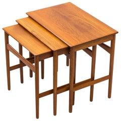 Nesting Tables by Hans J. Wegner for Andreas Tuck, Denmark, 1960s