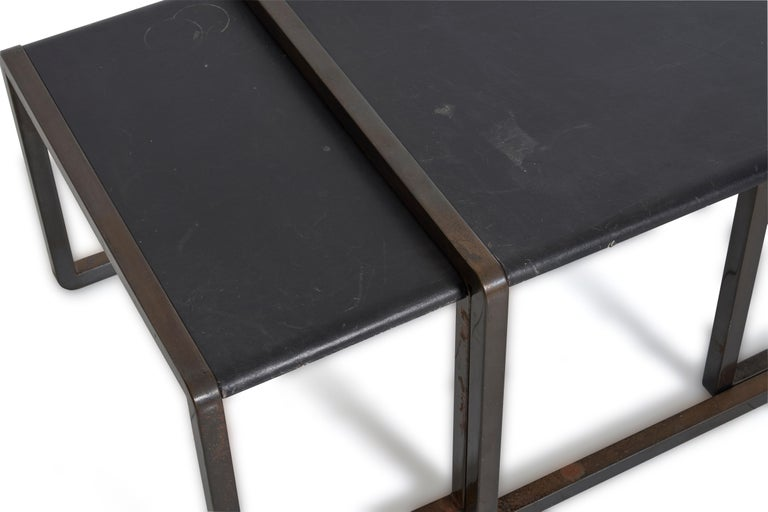 Late 20th Century Nesting Tables by Marco Fantoni For Sale