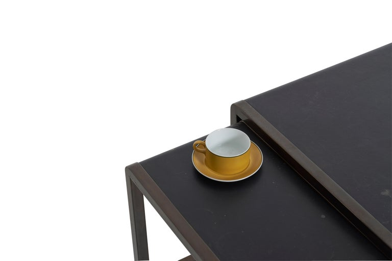 Bronze Nesting Tables by Marco Fantoni For Sale