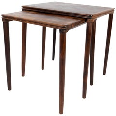 Nesting Tables in Rosewood of Danish Design from the 1960s