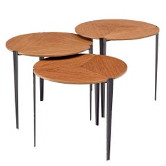 Nesting Tables in Teak by Osvaldo Borsani for Tecno