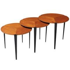 Nesting Tables in Teak by Osvaldo Borsani for Tecno