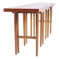 Nesting Tables in Teak Designed by Kurt Østervig for Jason, Denmark