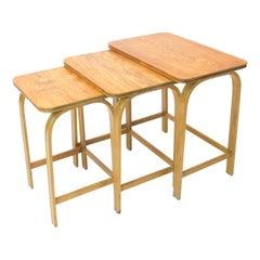 Nesting Tables Model 741 Designed by Axel Larsson 1930s for Bodafors