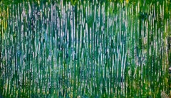 A closer look - Shimmering forest, Painting, Acrylic on Canvas