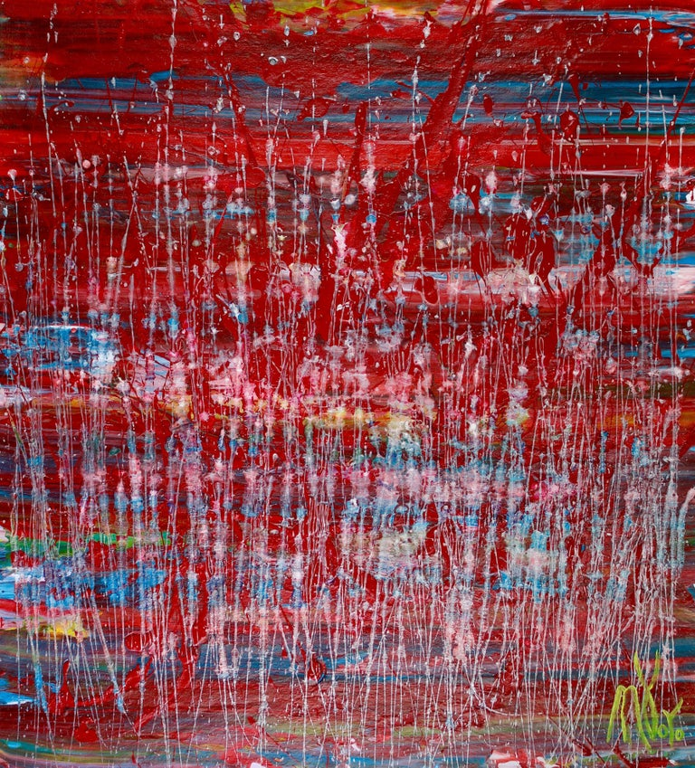 Nestor Toro Abstract Painting - A closer look (Thunder garden), Painting, Acrylic on Canvas