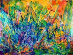 All around you - Organic Abstract, Painting, Acrylic on Canvas