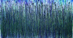 AquaGreen Spectra (Translucent forest), Painting, Acrylic on Canvas
