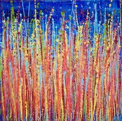 Awakening garden 2, Painting, Acrylic on Canvas