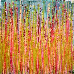 Awakening garden, Painting, Acrylic on Canvas