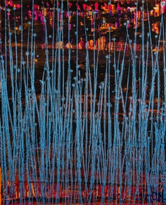 Blue frequencies (Electric panorama), Painting, Acrylic on Canvas