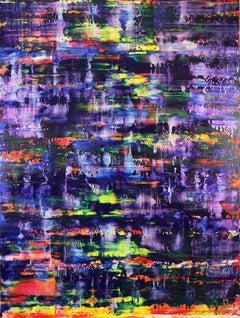 Blue shade panorama (Purple radiance), Painting, Acrylic on Canvas