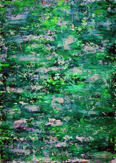 Caribbean forest whisper, Painting, Acrylic on Canvas