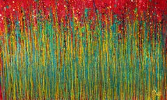 Colorful luminance (A closer look), Painting, Acrylic on Canvas