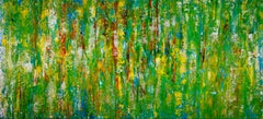 Consciousness forest spectra, Painting, Acrylic on Canvas