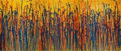 Daydream panorama 2 (fiery retreat), Painting, Acrylic on Canvas