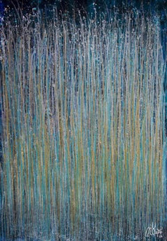 December Storm (Shimmering Spectra), Painting, Acrylic on Canvas