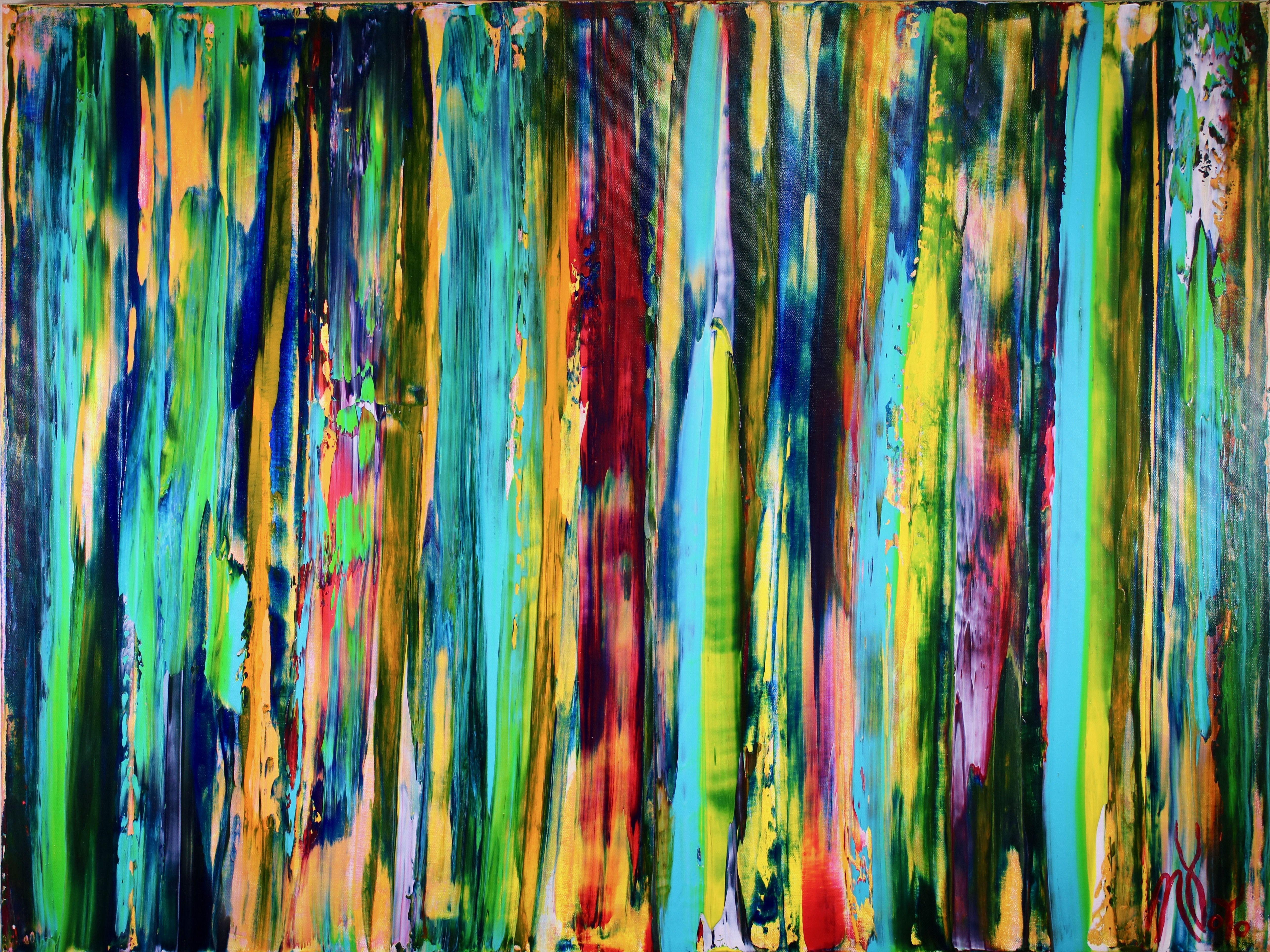 Deconstructed forest 2, Painting, Acrylic on Canvas