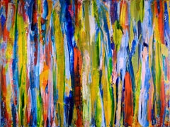 Deconstructed Forest Field, Painting, Acrylic on Canvas