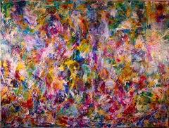 Echoes (Botanical Fantasy), Painting, Acrylic on Canvas