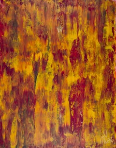 Fiery dimensions 2, Painting, Acrylic on Canvas