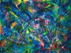 Forest rainbow, Painting, Acrylic on Canvas