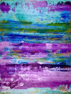 Frozen Turquoise (Purple Colorfield) (2016), Painting, Acrylic on Canvas