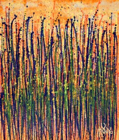 Garden in motion 1, Painting, Acrylic on Canvas