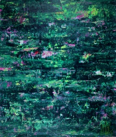 Green forest frenzy, Painting, Acrylic on Canvas