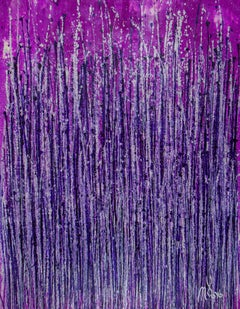 Lavish purple spectra, Painting, Acrylic on Canvas